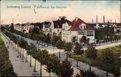 Postcard Senftenberg in der Niederlausitz, Bahnhofstraße Ecke Albertstraße