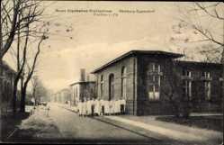 Postcard Hamburg Nord Eppendorf, Blick auf das neue Allgemeine Krankenhaus