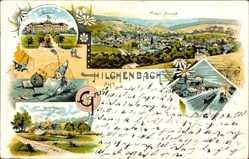 Litho Hilchenbach im Kreis Siegen Wittgenstein, Seminar, Stift Keppel, Totale