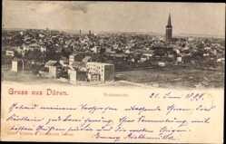 Postcard Düren in Nordrhein Westfalen, Totalansicht der Stadt, Kirchturm