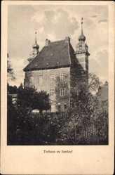 Postcard Seedorf im Kreis Segeberg, Ansicht vom Torhaus, Türme