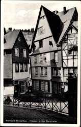 Postcard Monschau Montjoie in Nordrhein Westfalen, Häuser in der Rurstraße