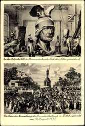 Postcard Detmold in Nordrhein Westfalen, Hermannsdenkmal, 16 August 1875