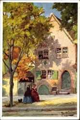 Künstler Ak Binder, Tony, Rothenburg ob der Tauber Mittelfranken, Herrngasse