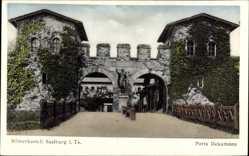 Postcard Bad Homburg v.d.H im Hochtaunuskreis, Römerkastell Saalburg, Porta Decumana