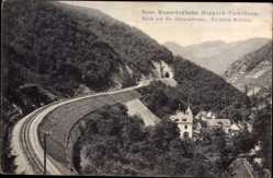 Postcard Boppard Castellaun, Vorderes Mühltal, Neue Hunsrückbahn