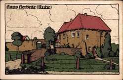 Steindruck Ak Herbede Witten Ruhr, Herrenhaus, Schloss