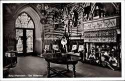 Postcard Trechtingshausen, Burg Rheinstein, Der Rittersaal