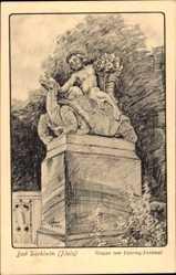 Künstler Ak Bad Dürkheim am Pfälzerwald, Gruppe vom Ostertag Denkmal