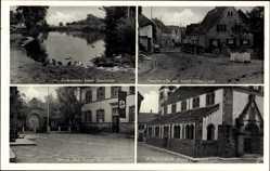 Postcard Forchheim am Kaiserstuhl Kreis Emmendingen, Schule, Adolf Hitler Linde