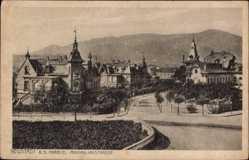 Postcard Neustadt an der Weinstraße, Blick in die Maximilianstraße, Häuser