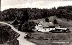 Postcard Höfen Monschau Montjoie in der Eifel, Gasthaus Theißen, Perlbachermühle