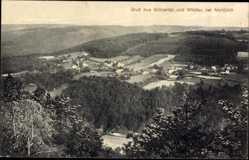Postcard Widdau Monschau Montjoie in der Eifel, Grünental, Blick in die Landschaft