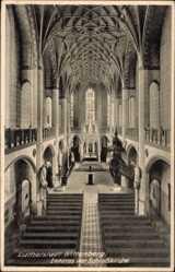 Postcard Lutherstadt Wittenberg in Sachsen Anhalt, Innenansicht der Schlosskirche