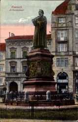 Postcard Lutherstadt Eisenach in Thüringen, Blick auf das Lutherdenkmal