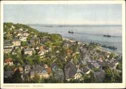 Postcard Hamburg Altona Blankenese, Süllberg, Elbe, Schiffe, Gebäude