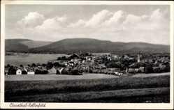 Postcard Clausthal Zellerfeld im Oberharz, Stadtpanorama, Berge, Turm, Wiesen