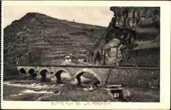 Postcard Walporzheim Bad Neuenahr Ahrweiler, Bunte Kuh, Brücke, Gebäude