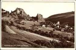 Postcard Kallenfels Kirn an der Nahe in Rheinland Pfalz, Blick auf das Dorf, Ruinen