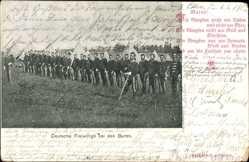 Postcard Deutsche Freiwillige bei den Buren, Südafrika