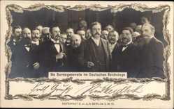 Passepartout Ak Burengenerale im Deutschen Reichstag