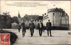 Postcard Président Armand Fallières, Jean Lannes, Colonel Ebener