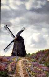 Postcard Niederdeutsche Landschaft, Windmühle, Nenke und Ostermaier 1323