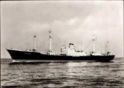 Postcard Dampfschiff MS Göttingen, HAPAG, Frachtschiff