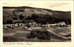 Postcard Holzhau Rechenberg Bienenmühle Erzgebirge, Panorama, Ort, Wald, Felder