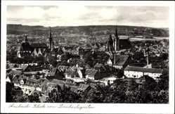 Postcard Ansbach in Mittelfranken Bayern, Blick vom Drechselgarten