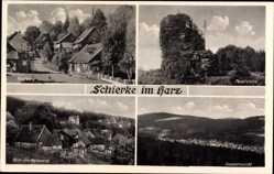 Postcard Schierke Wernigerode, Kirchberg, Feuersteine, Blick vom Marienweg