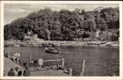 Postcard Lohme auf der Insel Rügen, Ostseebad, Fischerboot
