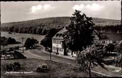 Postcard Rohrbrunn Weibersbrunn Unterfranken, Das Wirtshaus im Spessart, Inh. A. Grein