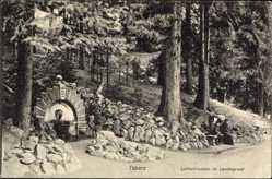 Postcard Tabarz im Thüringer Wald, Lutherbrunnen im Lauchagrund