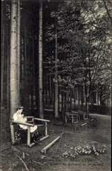 Postcard Tabarz im Thüringer Wald, Waldidyll vis a vis zum Kurhaus am Zimmerberg