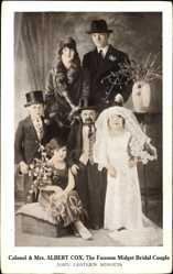 Ak Colonel and Mrs Albert Cox, the famous Midget Bridal Couple, John Lester