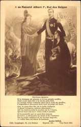 Postcard A sa Majeste Albert Ier, Roi des Belges, L'Union Fait la Force