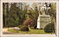 Postcard Potsdam in Brandenburg, Sanssouci, Denkmal Friedrich des Großen, RPH 1021