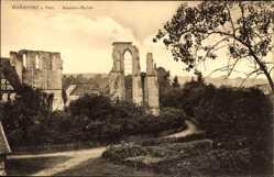 Postcard Walkenried am Harz, Blick auf die Kloster Ruine, Straße, Wald