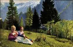 Ak Oberammergau in Oberbayern, Zwei Frauen in Bayerischer Tracht