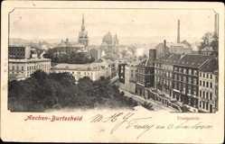 Postcard Burtscheid Aachen, Totalansicht der Ortschaft, Kirchturm, Häuser