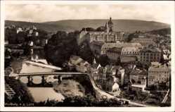 Postcard Weilburg im Lahntal, Blick auf den Ort, Fluss, Brücke, Häuser