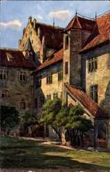 Künstler Ak Marschall, V., Füssen im schwäbischen Kreis Ostallgäu, Schlosshof