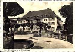 Postcard Bad Dürkheim am Pfälzerwald, Neues Kurparkhotel mit Ostertagbrunnen