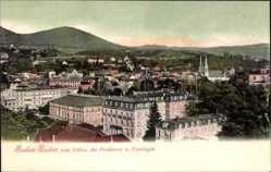 Postcard Baden Baden, Blick vom Schloss des Freiherrn von Venningen auf den Ort