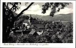 Postcard Bad König im Odenwaldkreis Hessen, Blick vom Hirtenberg auf den Ort