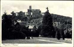 Postcard Königstein im Taunus Hessen, Blick auf eine Ruine und den Ort