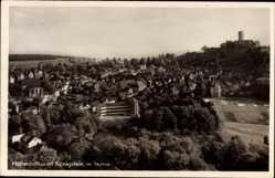 Postcard Königstein im Taunus Hessen, Totalansicht der Ortschaft, Festung