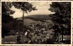 Postcard Altenau im Oberharz, Blick auf den Ort mit umliegender Landschaft