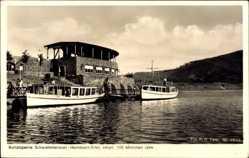Postcard Heimbach in der Eifel, Rurtalsperre Schwammenauel, Ausflugsboote, Seehof
